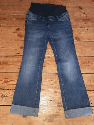 Ladies NEXT over Bump Pregnancy Maternity Blue Stretch Comfy Jeans 10 Long