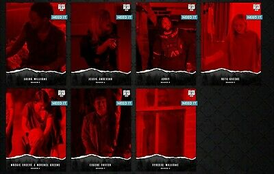 7x UNSTEADY Wave 3 RED SET Topps WALKING DEAD DIGITAL Card Trader AWARD READY
