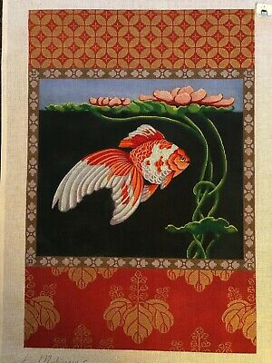 Kathryn Molineux WATER GARDEN Needlepoint Hand Painted Canvas M 204