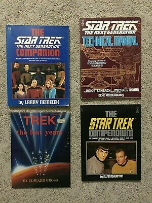 4x Star Trek Books Technical Manual TNG Companion TOS Compendium The Lost years