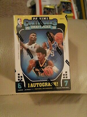 2019/20 Contenders Draft Picks Basketball Factory Sealed Blaster Box AUTO Zion ?
