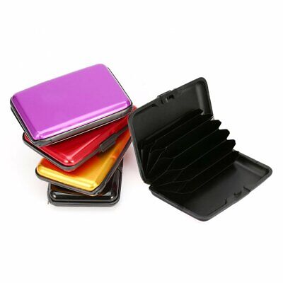 Waterproof Business ID Credit Card Wallet Holder Aluminum Metal Case Box#^