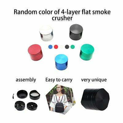 4 Layers Round Shape Men Grinder Zinc Alloy Herb Tobacco Herb Spice Crusher#^