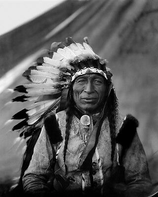 1905 Native American Indian CHIEF IRON TAIL Glossy 8x10 Photo Lakota Sioux Print