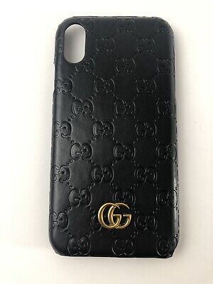 GUCCI CASE FOR Iphone XR black With Logo , $85.00