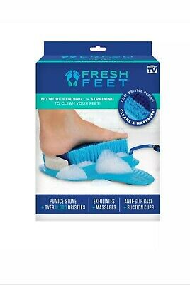 Fresh Feet As Seen on TV - Foot Scrubber w/ Pumice Stone, Cleans, Smooths & More
