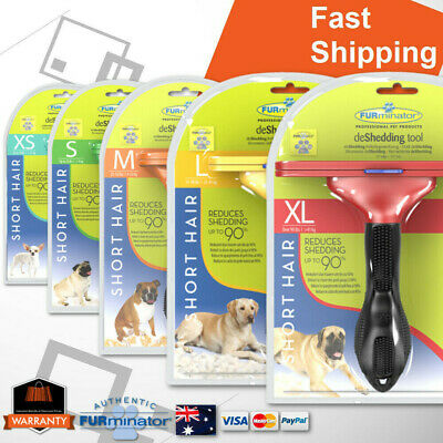 Furminator Deshedding Tool Grooming Small Large Cats Dogs Pet Brush Rake Comb