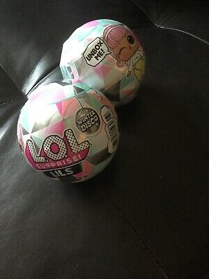 LOL Surprise! Lils Sister Winter Disco Series Globe 2 Balls Doll NEW
