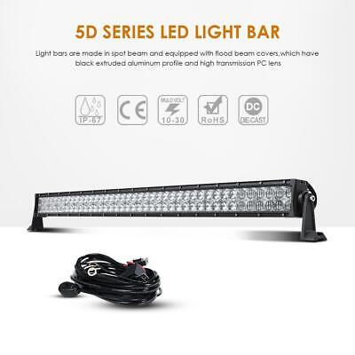 "42"" 5D 42inch 240W CREE LED Light Bar Spot Flood Combo SUV OffRoad Driving Lamps"