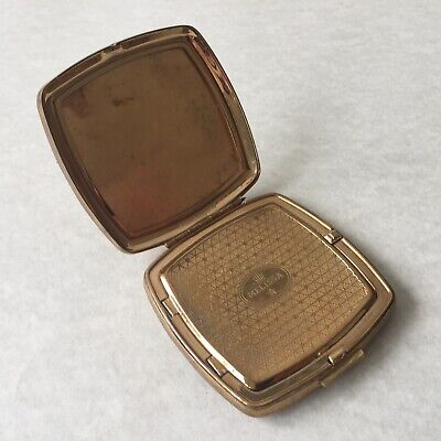 Vintage Melissa Metal Compact Powder Made In England