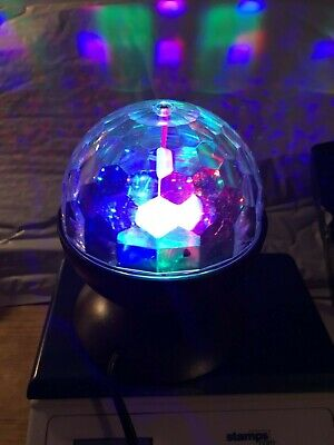 Livarnolux LED Party Light Rotating Motorized Dome 3 colorful LED's