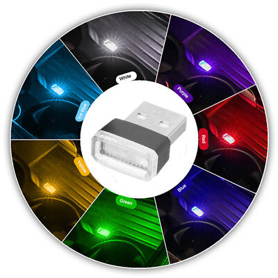 3 X Mini USB LED Auto Ambientebeleuchtung Innenraumbeleuchtung Atmosphäre Lampe