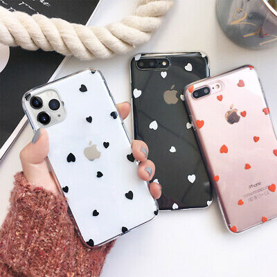 Heart Clear Soft Silicone Case Cover For iPhone 11 Pro Max XR XS X 8 7 6S Plus
