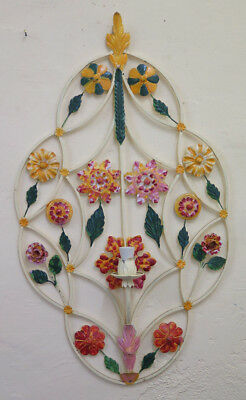 Wall Style Floral Vintage Wrought Iron Made by hand Artisan CH-9