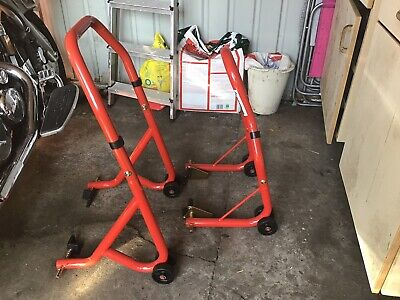 Warrior Front And Rear Motorcycle / Bike Paddock Stand / Stands Combo