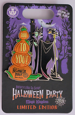 Disney Parks 2019 Mickey's Not So Scary Halloween Maleficent LE Pin NEW