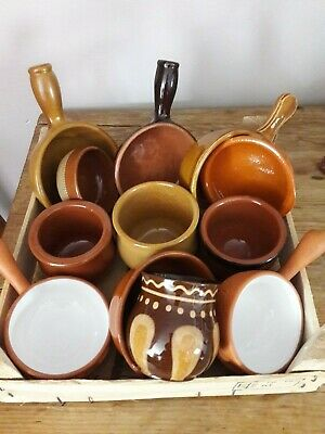 SELECTION OF SMALL TERRACOTTA DISHES BOWLS x 12