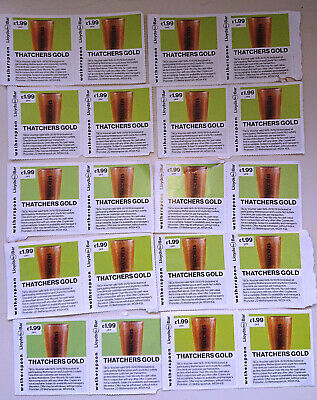 Wetherspoon tickets - 20 pints Thatchers Gold for £1.99