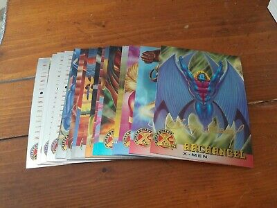 LOT of (19) 1995 Fleer Ultra X-Men Chromium Gold Signature Cards - 17 different