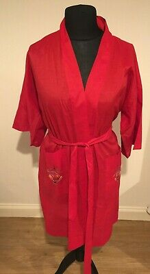 Pearls Red hand embroidered Kimono