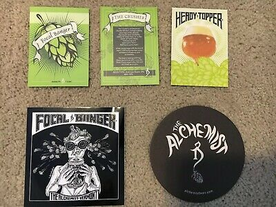 Alchemist Brewery Collectibles Coaster Sticker Beer Tags