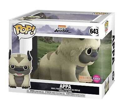 Funko Pop Animation #643 Flocked Appa Avatar Last Airbender Box Lunch PreOrder