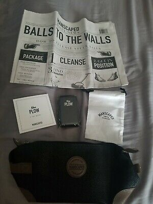 Manscaped Grooming Package THE PLOW safety razor & THE SHED toiletry bag NWT