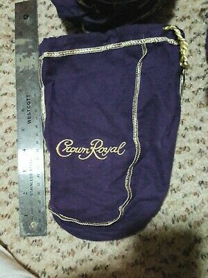 1 Crown Royal whiskey Bags Purple Felt Drawstring bag 9 inch