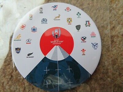 Rugby World Cup 2019 Japan Round '20 Unions' Magnet Brand New
