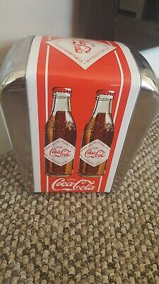 Coca Cola Serviette Napkin Holder Retro Style Cafe Red Chrome