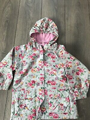 Girls Fleece Lined Cath Kidston Floral Coat Age 5-6 Years