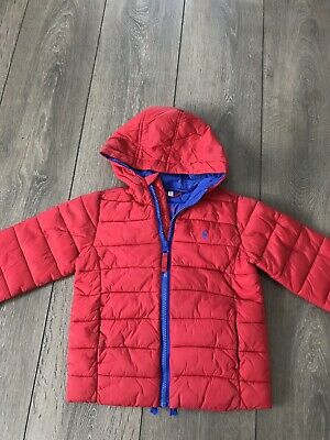 Boys Joules Soft Quilted Red Coat Age 3 Years