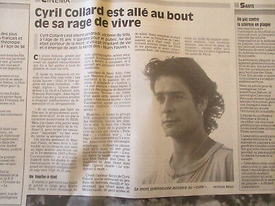 Journal Du Deces De : Cyril Collard - 06/03/1993 -