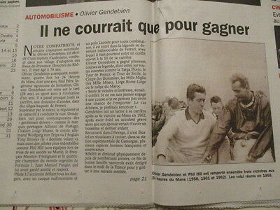 Journal Du Deces De : Olivier Gendebien 05/10/1998