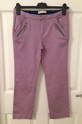 Ladies/Girls Zara Patterned Slim Cropped Trousers - Size XS/Age 13-14