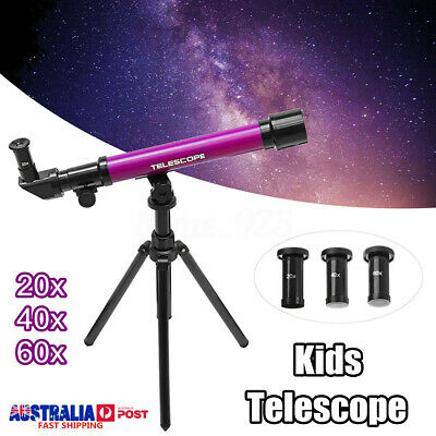 20-60x Kids Children Astronomical Telescope Tripod Science Educational !