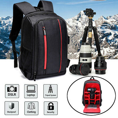 Large DSLR Camera Backpack Waterproof For Canon Laptop Lens Case