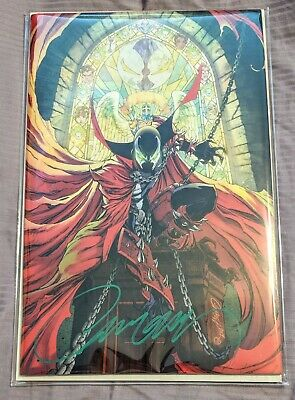 SIGNED Spawn 300 Virgin Cover J Scott Campbell Variant M