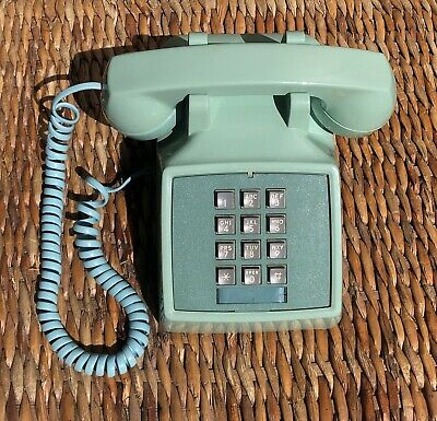 Vintage Western Electric touchtone Desk Aqua/Blue Bell System Telephone Phone