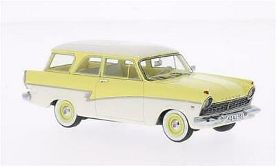 FORD TAUNUS 17m p3 Coupe Blu-Bianco 1:43 Neo NUOVO /& OVP 46200