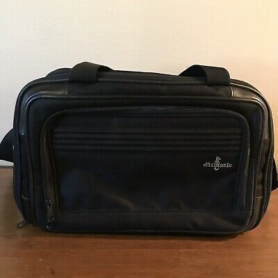 ATLANTIC Seahorse CARRY ON Luggage SHOULDER Bag Black CANVAS Travel Bag