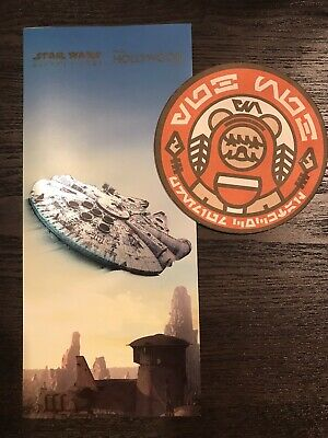 WDW Hollywood Studios Star Wars Galaxy's Edge Opening Day Map & Ewok Coaster
