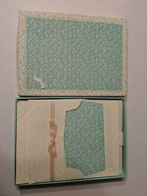 Vintage Eaton Stationery Mint Green And White, New, Sealed