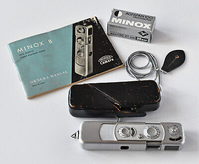Minox B subminiature camera - with extras