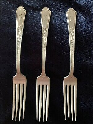 Vintage 1847 ROGERS BROS Silver Plate Old Colony Pattern 3 Forks
