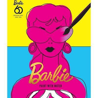 2019 Barbie 60th Anniversary Limited Edition 32 Page Paint with Water Book