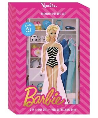 2019 Barbie 60th: Premium Paper Doll Limited Edition Collectable Box Set