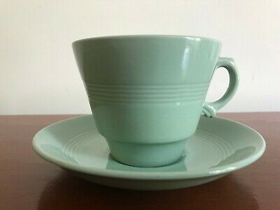 "Vintage Woods Ware  ""Beryl"" -  Breakfast Cup and Saucer"