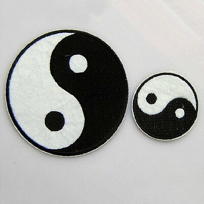 Chinese Feng Shui Ying Yin Yang Tai Chi Iron Embroidered Applique DIY Patch Ll