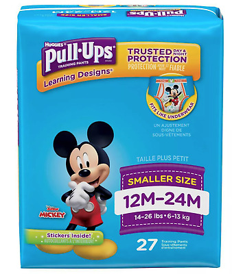 Huggies Pull-Ups Boys Learning Designs Training Pants 27 Pack 12M-24M 14-26 lbs